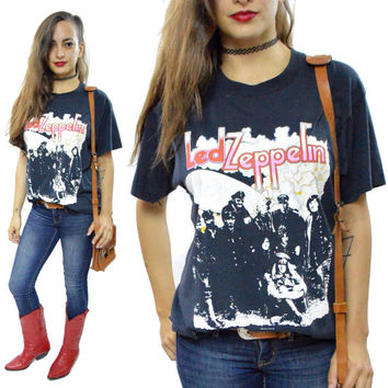 Vintage 80s Led Zeppelin II Rock T Shirt Sz L