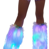 Light-Up White Super fluff Legwarmer