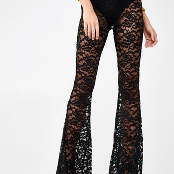 Lace Flare Pants