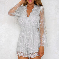 Light A Spark Playsuit Silver