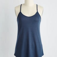 Peace and Kayak Tank Top in Navy | Mod Retro Vintage Short Sleeve Shirts | ModCloth.com