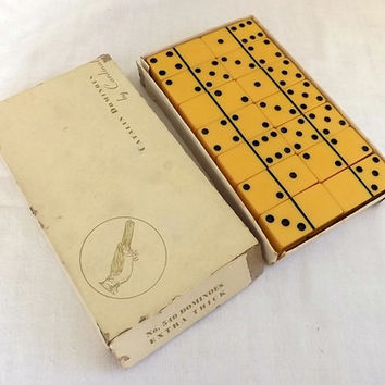 Vintage Cardinal Dominoes Catalin