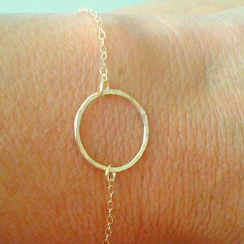 Open Circle Bracelet, Friendship,Bangle,Endless love , charm, Birthday ,Bridesmaid jewelry,best friend gift, Karma bracelet