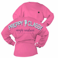 "*Closeout* Simply Southern ""Drop Classy"" Long Sleeve"