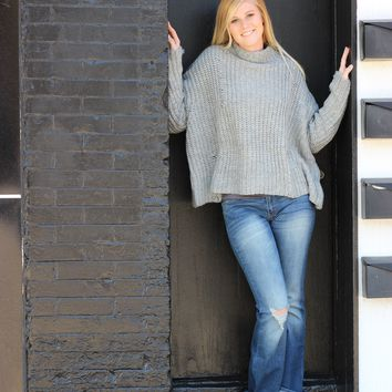 Distressed Boxy Fit Sweater