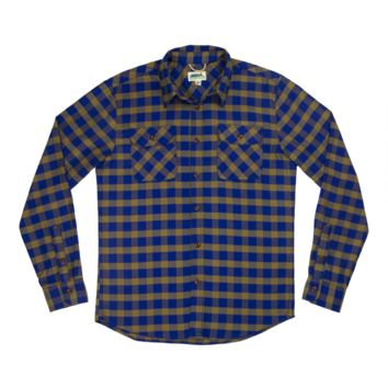 Better Buffalo Flannel Shirt - Royal / Gold
