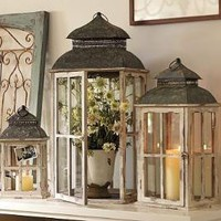 Park Hill Windowpane Lantern | Pottery Barn