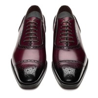 Gianni Leather Cap Toe Lace-Up Brogue