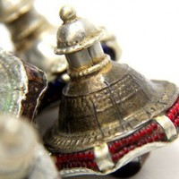 Banjara Tribal Vintage Metal Shank Buttons from Rajastan India | catfluff - Vintage Supplies on ArtFire