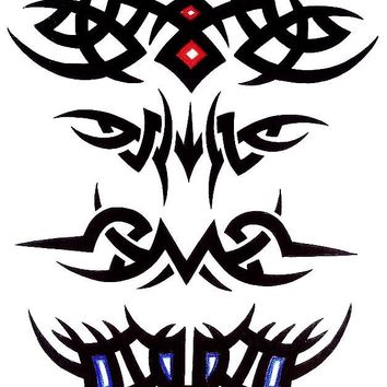 Tribal Chest /Arm Temporary Tattoo 4 in 1