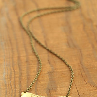 The Betty Collection: Brass Axe Necklace