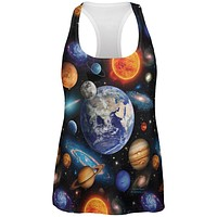 Galaxy Solar System All Over Womens Work Out Tank Top