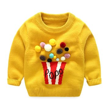 Autumn Winter Baby Girls Sweaters Newborn Boys Long Sleeve Warm Knitted Clothes Baby Cartoon Woolen Christmas Sweater Pullovers