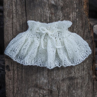 Baby Girl Knitted Skirt, Baby Girl Knit Skirt, Toddler Skirt, White Baby Skirt