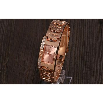 TOUS 2018 men and women with the same stylish wild quartz watch F-YY-ZT Rose gold