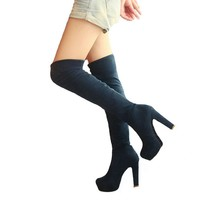 Over the Knee Platform Boots