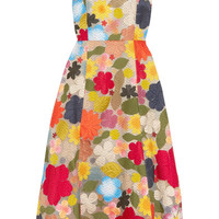 Rosie Assoulin - Hodges Podges floral-appliquéd silk-organza midi dress