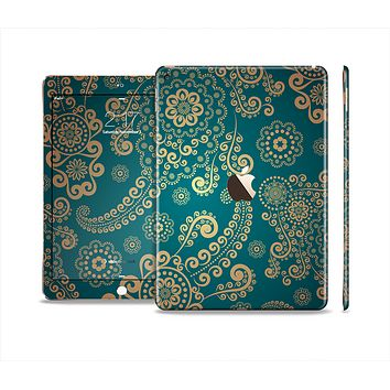 The Green & Gold Lace Pattern Skin Set for the Apple iPad Air 2