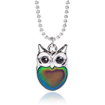 Trendy Mood or Temperature Color Changing Necklace & Pendant For Women