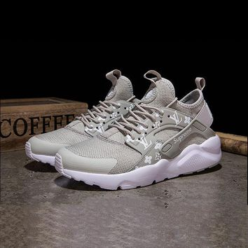 Sale LV x Supreme x Nike Air Huarache Custom Grey White Sport Ru b95bbd7abd19