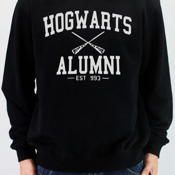 HOGWARTS ALUMNI Sweatshirt Harry Potter Shirt Sweatshirt Sweater Unisex - silk screen handmade