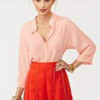 Fitzgerald Beaded Shorts - Tangerine in  Clothes at Nasty Gal