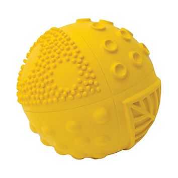 "Natural Rubber Sensory Ball Sunshine (3"") - BPA, Phthalates, PVC Free, Certified Non-Toxic"