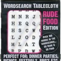 Rude Food Word Search Tablecloth