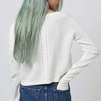Mixed Pointelle Crop - Topshop