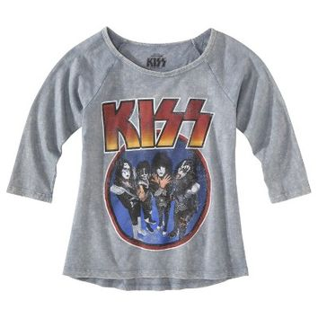 Juniors KISS Graphic Tee - Gray