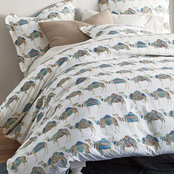 Camel Caravan Percale Bedding