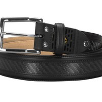 Michael Toschi Carbon Fiber Belt - Black Leather