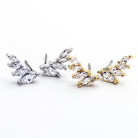Angel wings stone earrings