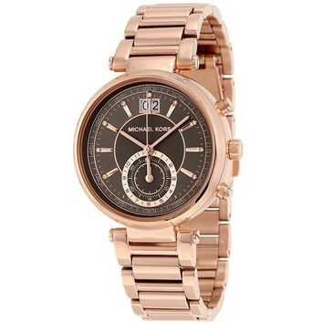 Michael Kors MK6226 Women's Sawyer Rose Gold-Tone Bracelet Watch