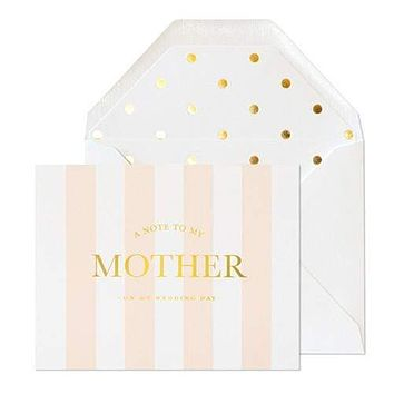Note to My Mother on Wedding Day Card