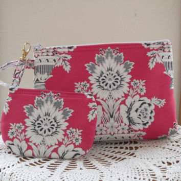 Iphone Smart phone Case Gadget  Pouch Clutch Wristlet Zipper Gadget Pouch Set Statuesque, Contemporary, Baroque Bouquets