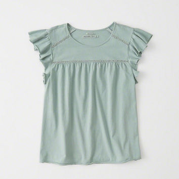 Womens Flutter Sleeve Top | Womens New Arrivals | Abercrombie.com