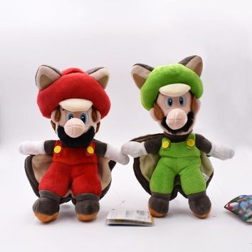 Super Mario party nes switch 22cm  Plush Toys Musasabi Flying Squirrel Luigi Plush Toys Soft Stuffed Toys Figures Toy Plush Doll For Kids Gift AT_80_8