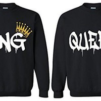 Fresh Tees King And Queen Matching sweatshirts for Couples Sweatshirts Couples Shirts Couples Gifts