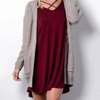 Best selling explosion ladies long sleeve cardigan sweater