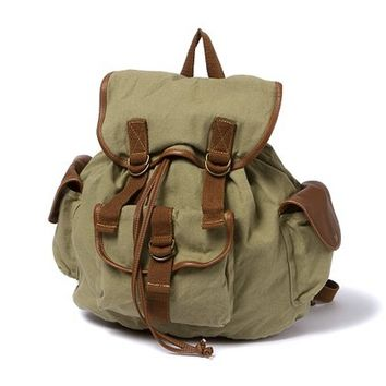 Canvas and Faux Leather Cargo Backpack  | Claire's