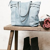 Free People Womens Vicenza Leather Tote