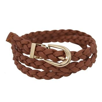 Western Braided Skinny Fashion Belt