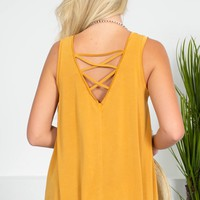 Haley Modal Summer Tank | Mustard Yellow