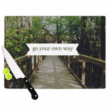 """Chelsea Victoria """"Go Your Own Way"""" Nature Green Cutting Board"""