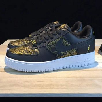 NIKE Air Force 1 AFT LOW Contrast Sports shoes Black G-CSXY-1