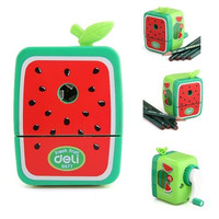 Fruits Pencil Sharpener Hand Crank Manual Desktop School Stationery Kids (watermelon)
