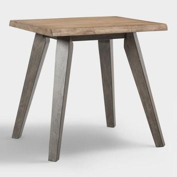 Live Edge Wood Colbie End Table