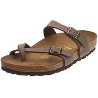 Birkenstock womens Mayari in mocca from Birko-Flor Thong 41.0 EU W