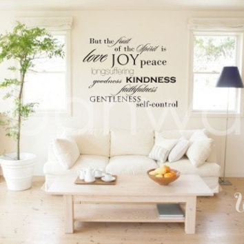 Vinyl Wall Decal Sticker Art, The Fruits of the Spirit